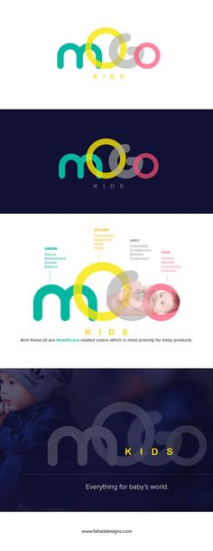 mogo kids logo design and branding