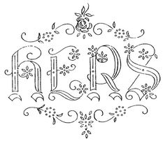 673 Best Embroidery Letters images in 2018 | Embroidery