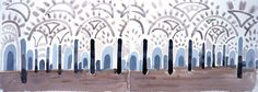 Andalucia Mosque, Cordova  2004 - Watercolor on 2 sheets of paper (29 1/2 x 41 1/2 in.)