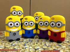 3D Silicone Despicable Me 2 Minion Phone Case for iPhone 4 4g 4s 5 5s 5c