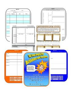 US History Activities & Graphic Organizers  Instructomania!  Great ideas to get tech kids excited!