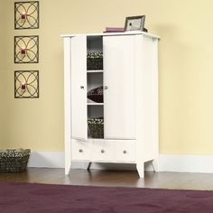 Shoal Creek Soft White Armoire  $269 Shipping available.  We can change the knobs.