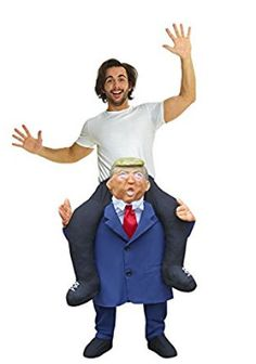 Halloween costume idea - president donald trump -  Novelty Piggy Back Funny Piggyback Costume Unisex - With Stuff Your Own Legs
