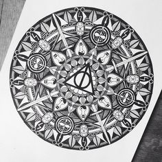 Harry Potter themed mandala - this is absolutely incredible!