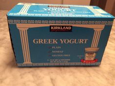 Make your own VANILLA Greek Yogurt from plain yogurt (much lower in sugar than store bought)