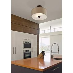 "Halsted Brushed Bronze Semi-Flush 15"" Wide Ceiling Light - #T8954   www.lampsplus.com"