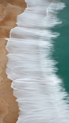 waves on the beach.