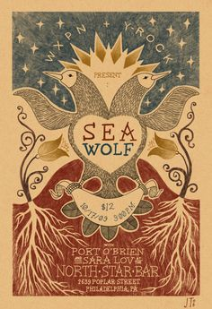 Sea Wolf gig poster by Jim Tierney