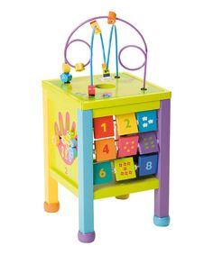 This playroom essential features plenty of learning elements from counting and mazes to coasters and number recognition to help little ones develop fine and gross motor skills while simultaneously inspiring their inquisitive natures. Toys For Little Kids, Best Kids Toys, Little Ones, Centre, Play Table, Santas Workshop, Top Toys, Kids Corner, Baby Toys