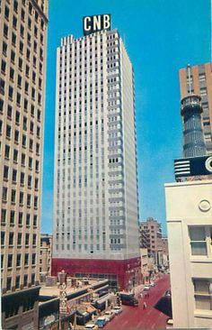 A view from my childhood.  The CNB clock downtown Fort Worth.