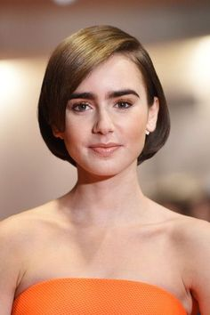 Lily Collins short hair