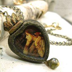 Ophelia - Sacred Heart Pictorial Necklace..Jen Parrish