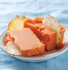 Papaya and pineapple sorbet Woolworths Food, Papaya Recipes, Pineapple Sorbet, South African Dishes, Healthy Summer Recipes, Food Tasting, Cooking Instructions, Frozen Treats, Recipes