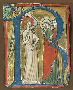 Initial R, with the Annunciation, from a Gradual, The [German] (1982.175) | Heilbrunn Timeline of Art History | The Metropolitan Museum of Art