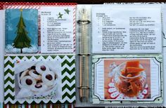 Ulrika Wandler designed these fun and fabulous recipe pages for her Misc. Me album using the Elf Magic collection. The recipes look so yummy. #BoBunny, @Ulrika Wandler