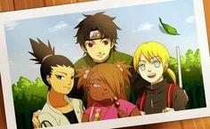 The New Ino-Shika-Cho Team and Mirai Sarutobi  ❤️❤️❤️