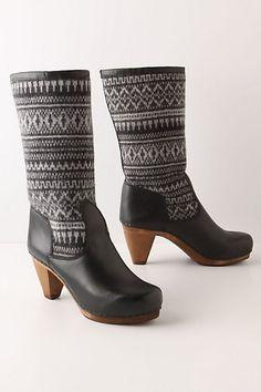 Fairisle Clog Boots - StyleSays