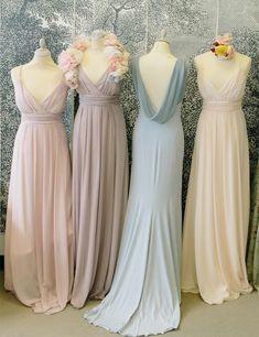 V-neck bridesmaid dress,Cheap bridesmaid dress,Simple bridesmaid dress ,Floor-length Bridesmaid dress ,PD88