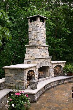 Backyard Fire Place & Wood Holders