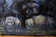 https://flic.kr/p/JtaeC6   Zeeuws Museum (Middelburg, The Netherlands) - Piet Mondriaan - Apple tree in blue with wavy lines I   Pictures taken by Björn Roose at the Zeeuws Museum, Middelburg, The Netherlands