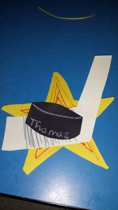 Hockey puck craft for preschool