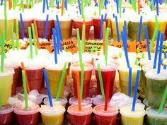 Fresh Juices from La Boqueria, Barcelona