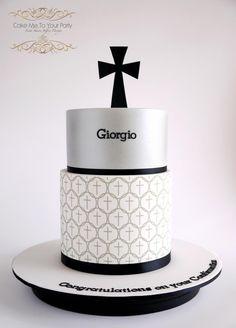 Confirmation Cake- boy - Cake by Leah Jeffery