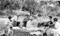The Irwin family on a picnic. Western History Collections, University of Oklahoma Libraries, Irwin Brothers Studio Collection, Early Scenes