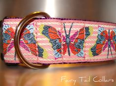 """Fairy Tail Collars Beautiful Butterfly Dog Collar.  Available in 1.5"""" Only."""