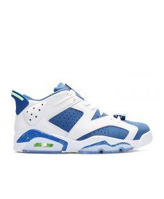 pretty nice 35183 15f64 Air Jordan 6 Retro Low Seahawks White Ghost Green Insgn Blue 304401 106