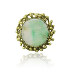 14k Gold Carved Jade Ring. Available only at hamptonauction.com for our August 11th, 2014 auction! Come preview our catalog!