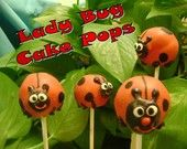 lady bug cake pops - @Stephanie Davis you need to learn how to do this