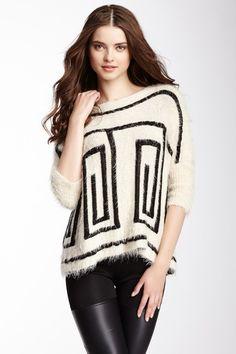 Print Fringe Sweater by Double Zero on @HauteLook