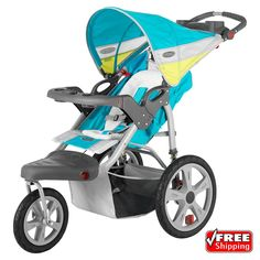 Actual Color : Robin's Egg with Citron. The perfect option for the active parent. The swiveling front wheel allows you to maneuver in tight corners or through crowds but the option to lock the wheel still allows you to go out and run that 5K with the little ones. | eBay!