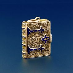 Early Victorian Enamel Book Locket