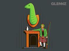 Loch Ness monster by Glennz