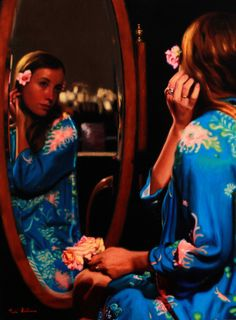 https://flic.kr/p/vkVt9v | Adornment_Vicki Sullivan_Oil on Linen | Australian Artist#Portrait Artists Australia#Realist Painting#Australian Women Artist#Portrait commission#Portrait from Photos#Figurative painting#Roses in your hair#Kimono#Beauty#Girl in a mirror#Chevalier mirror#Artist model#The model Adorns#Reflection#Angel Academy of Art#Florence Italy#Art Renewal Centre Associate Living Master#Portrait#Aqua#
