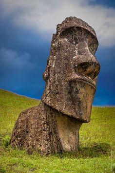 Moai - Statue made by the Rapa Nui people, Easter Island: