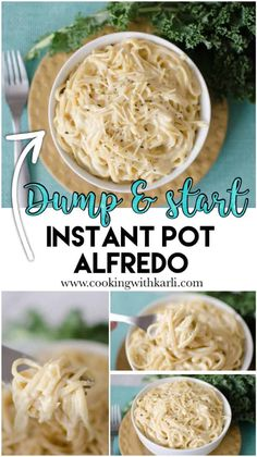 Dump and Start Instant Pot Alfredo - Cooking With Karli