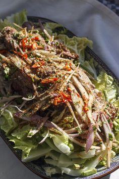 [thailändisch] Nam Tok Nuea - Wasserfallsalat mit Rindfleisch