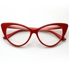 c6ea41832cd Amazon.com  Super Cat Eye Glasses Vintage Inspired Mod Fashion Clear Lens  Eyewear