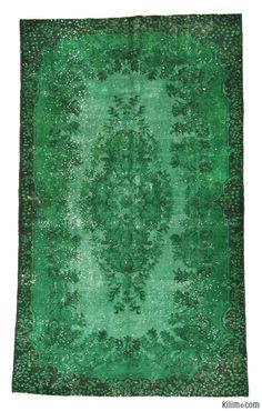 Over-dyed Turkish Vintage Rug