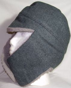 New Army Surplus Swiss Military Issue Men/'s Wool Winter Hat M//L Gray Cap