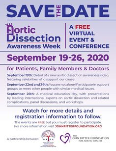 Aortic Dissection Awareness Week 2020