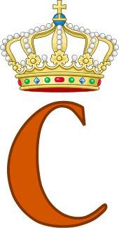 Royal Monogram of  His Royal Highness Prince Constantijn Christof Frederik Aschwin of the Netherlands, Prince of Orange-Nassau, Jonkheer van Amsberg.