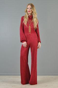 e5698ab0 vintage 80s bellbottom jumpsuit - Google Search Disco Fashion, 70s Women  Fashion, Retro Fashion