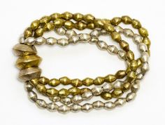Noonday bracelet from Ethiopia. Upcycled metal beads from previous war weapons. Ordered this tonight and can't wait to get it!