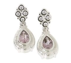 Amethyst Earrings J30946- matches the BT ring