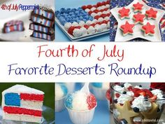Fun July 4th desserts - Fourth of July desserts roundup