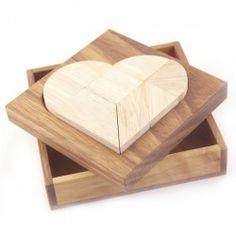 Wooden Brain Teasers : Wooden Puzzles - Broken Heart Tangram 2D